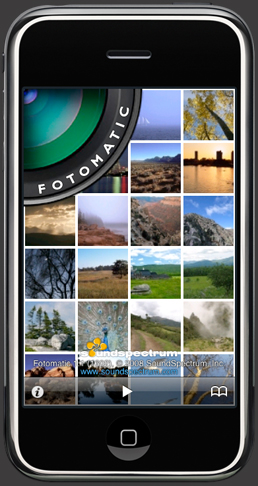 Fotomatic for iPhone and iPod touch photo browser and visualizer