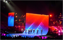 WhiteCap visuals onstage for George Michael 25 LIVE tour