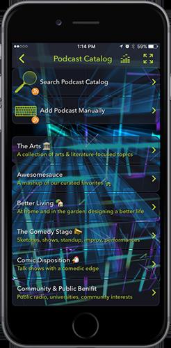 Tunr app Podcasts Internet Radio iOS